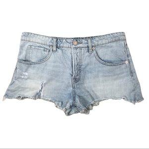 BDG Denim Shorts Baggy Cut Off Distressed Boho